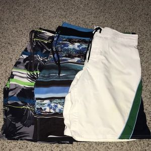 3 pairs of men's bathing suit/ board shorts